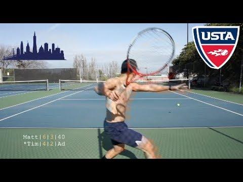 Tennis with Matt Lin: USTA NTRP 4.5 vs 5.0 Highlights HD