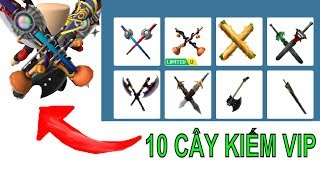Roblox Shopping | Try Wearing 20 Sword On person | Try To Wear Sword | MinhMaMa
