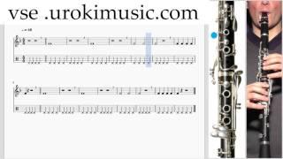 Как играть на Кларнете К#1 Р#2 У#1 самоучитель уроки обучение ноты школа курсы
