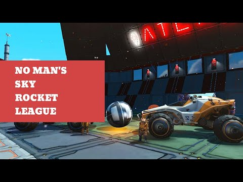 Here's Rocket League in No Man's Sky because the universe is wild