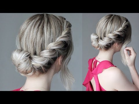 How to Easy Updo French Rope Braid