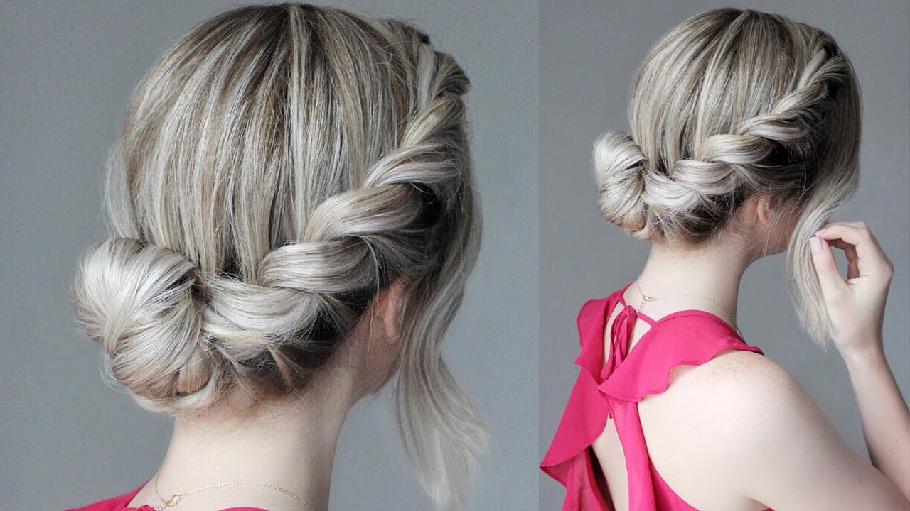 How To: Easy Updo   French Rope Braid - YouTube