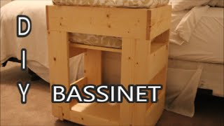 How To Make A Bassinet!  With Pocket Hole Kreg Jig Joinery