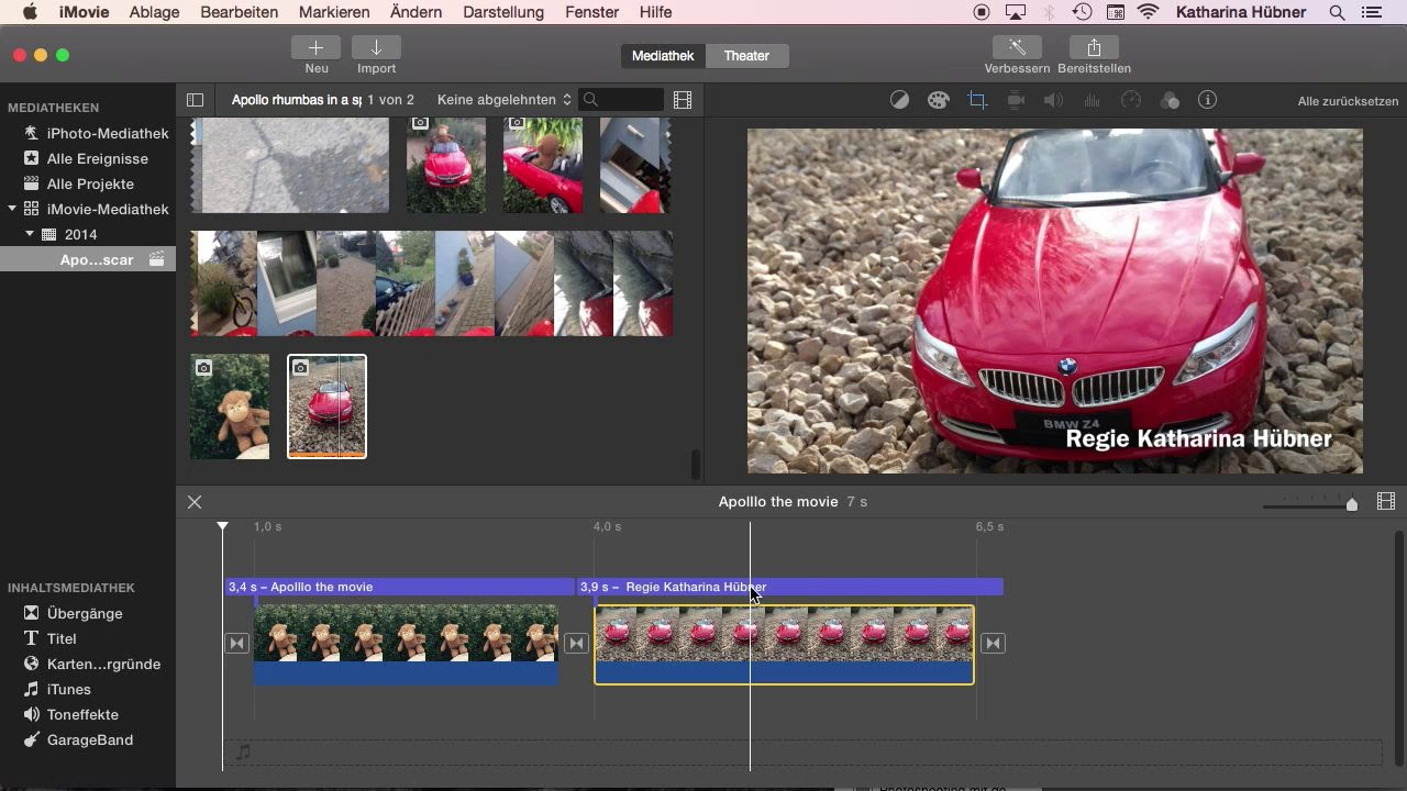 Videos mit iMovie bearbeiten | Das große Mac-Training – Für ...