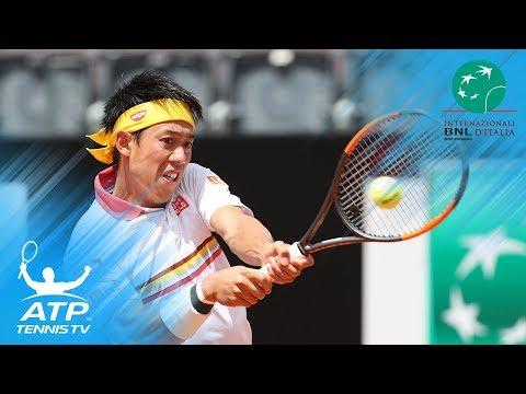 Kei Nishikori vs Grigor Dimitrov: Brilliant Rallies & Winning Moment | Rome 2018