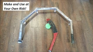 Homemade Hockey Stick-handling Device