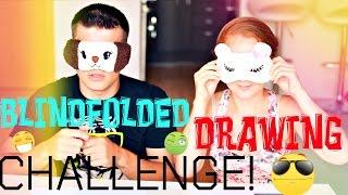 РИСУЕМ ВСЛЕПУЮ ВЫЗОВ!  | BLINDFOLDED DRAWING CHALLENGE!