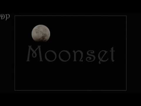 Moonset from Lunar Eclipse October 8, 2014