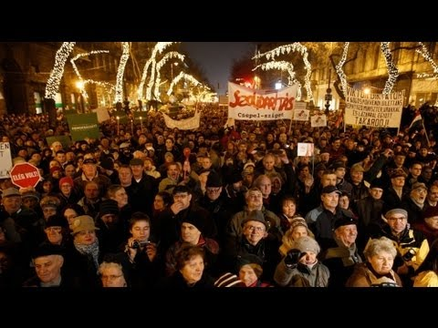 Hungarians protest against new constitution