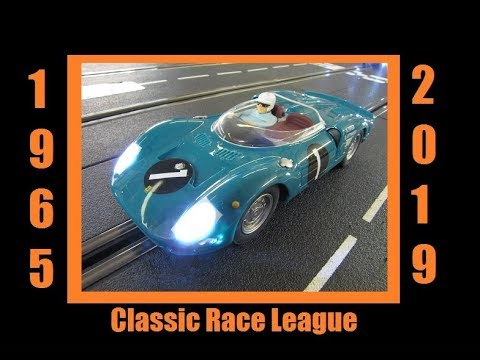 2019 1965 Classic Slot Car League Race 6 Oakes Field Nassau Circuit