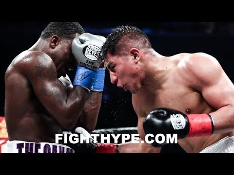 ADRIEN BRONER VS. JESSIE VARGAS FULL FIGHT AFTERMATH; TRADE WORDS IN THE RING AFTER FIGHTING TO DRAW