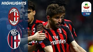 Milan 2-1 Bologna | Milan revive their Champions League hopes with a 2-1 win! | Serie A