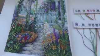 Готовая вышивка Garden Gate от Dimensions