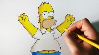 DIBUFÁCIL | Aprende a Dibujar a Homer Simpson paso a paso | ArteMaster
