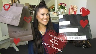 Valentines Day Haul Sephora & Louis Vuitton Multicolor items!