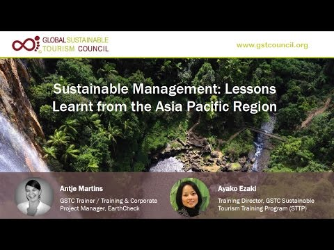 GSTC Webinar: Sustainability Lessons from the Asia Pacific Region