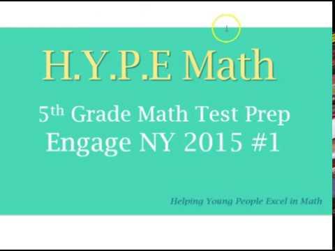 2015 Engage NY 5th Grade Math Test Prep No 1 - YouTube