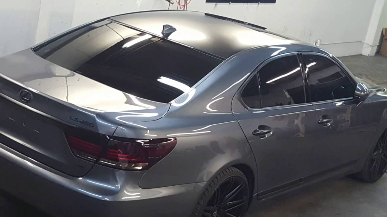 Lexus Ls 460 Satin Black Vinyl Wrap