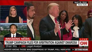 CNN Breaking News: Trump campaign files for arbitration against Omarosa