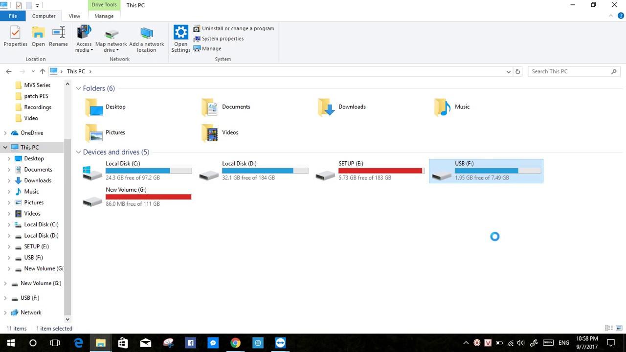 Khắc phục USB bị shortcut 1kb