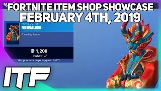 Fortnite Item Shop *NEW* FIREWALKER SKIN AND GOLDEN CLOUDS WRAP! [February 4th, 2019]