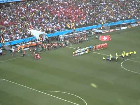 La Marseillaise in Salvador de Bahia - Switzerland 2 X 5 France World Cup 2014
