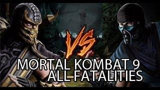 Mortal Kombat 9 All Fatalities  [HD] [2013]