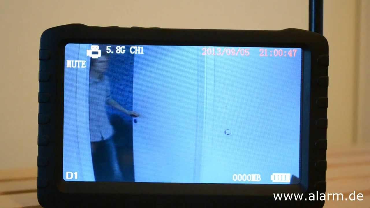 5 8 ghz mini funk kamera mit videoempf nger dvr set zur funk video berwachung youtube. Black Bedroom Furniture Sets. Home Design Ideas