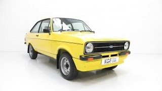 An Iconic, Very Rare Mk2 Ford Escort RS Mexico in Show Condition - SOLD!