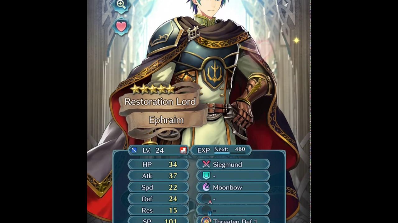 fire emblem heroes ephraim says youtube