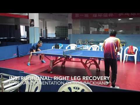 Reverse penhold backhand (RPB) receive short serve rally instructional