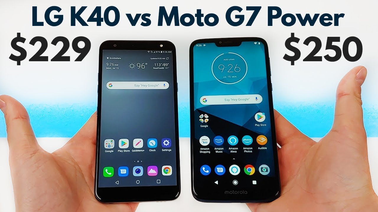 LG K40 vs Moto G7 Power - Which is better for YOU?