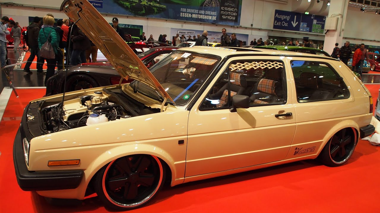 volkswagen golf 2 w stenfuchs tuning at essen motorshow exterior walkaround youtube. Black Bedroom Furniture Sets. Home Design Ideas