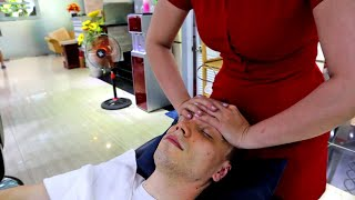 ASMR Incredible Full Treatment in Vietnamese Barbershop Face Massage Body Massage Ear Cleaning