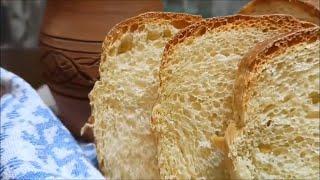 Простой рецепт Пшеничный хлеб на сыворотке