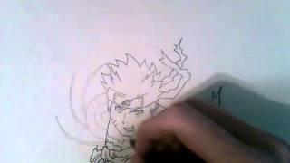 How To Draw #10: Naruto Nine Tailed Chakra Mode