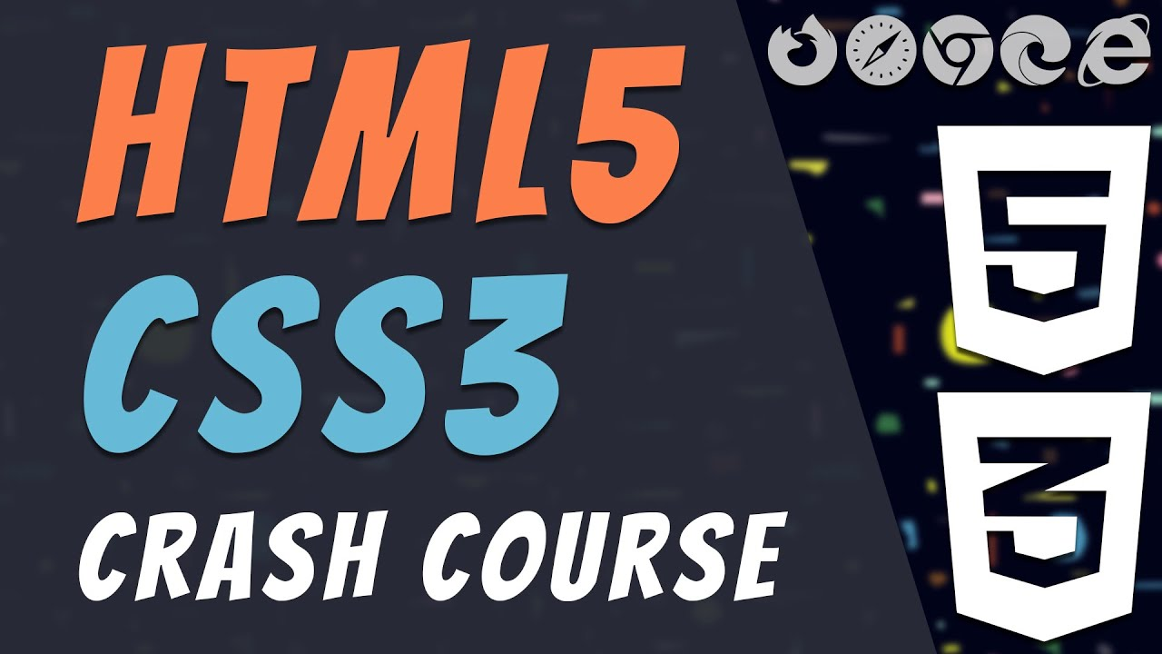 HTML5/CSS3 Complete Crash Course [Beginners] - Web Development 2020