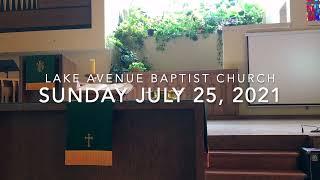 Sunday July 25, 2021