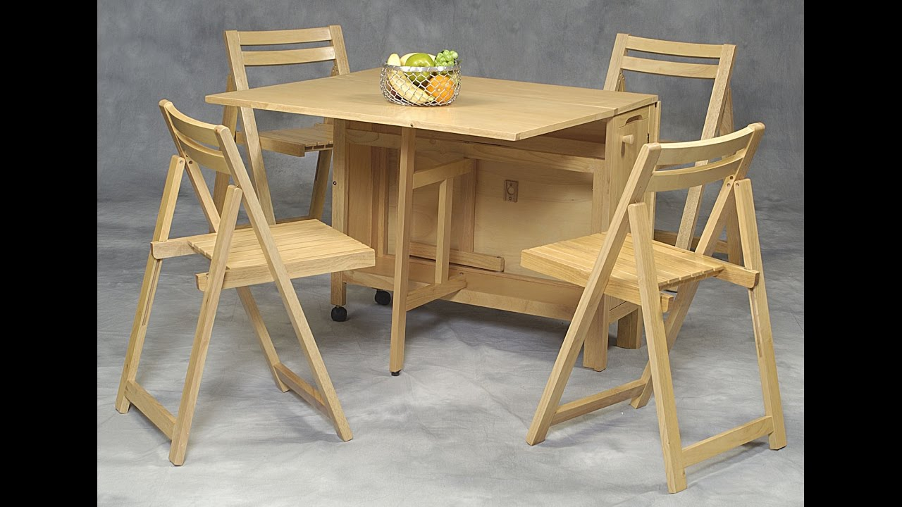 Beautiful Amazing Space Saving Table And Chairs