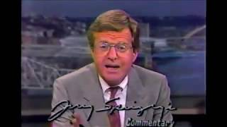 1989 Jerry Springer Commentary - Pete Rose Gambling Decision Bias in Baseball
