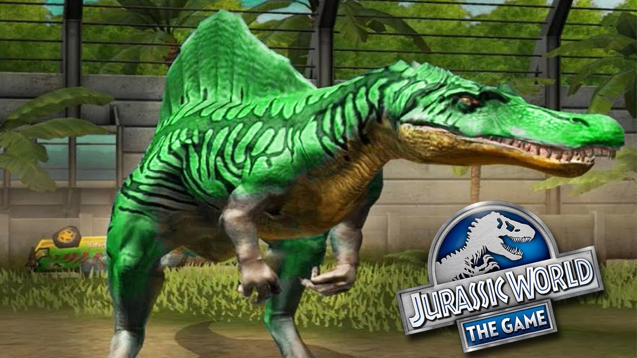 SPINOSAURUS MAX LEVEL 40 - Jurassic World The Game - YouTube