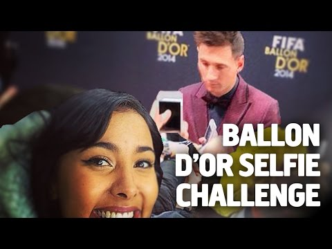 Maya Jama's FIFA Ballon d'Or Selfie Challenge