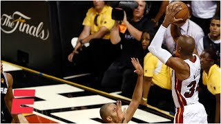 Download Ray Allen's 3-pointer, LeBron's 32 save Heat in Game 6 of 2013 NBA Finals vs. Spurs | ESPN Archives Mp3 and Videos