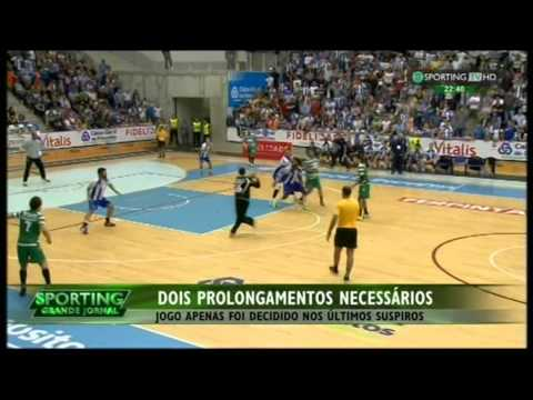 Andebol :: Play-off Final 5Jogo :: Porto - 34 x Sporting - 32 (apos 2 prolong.) de 2014/2015
