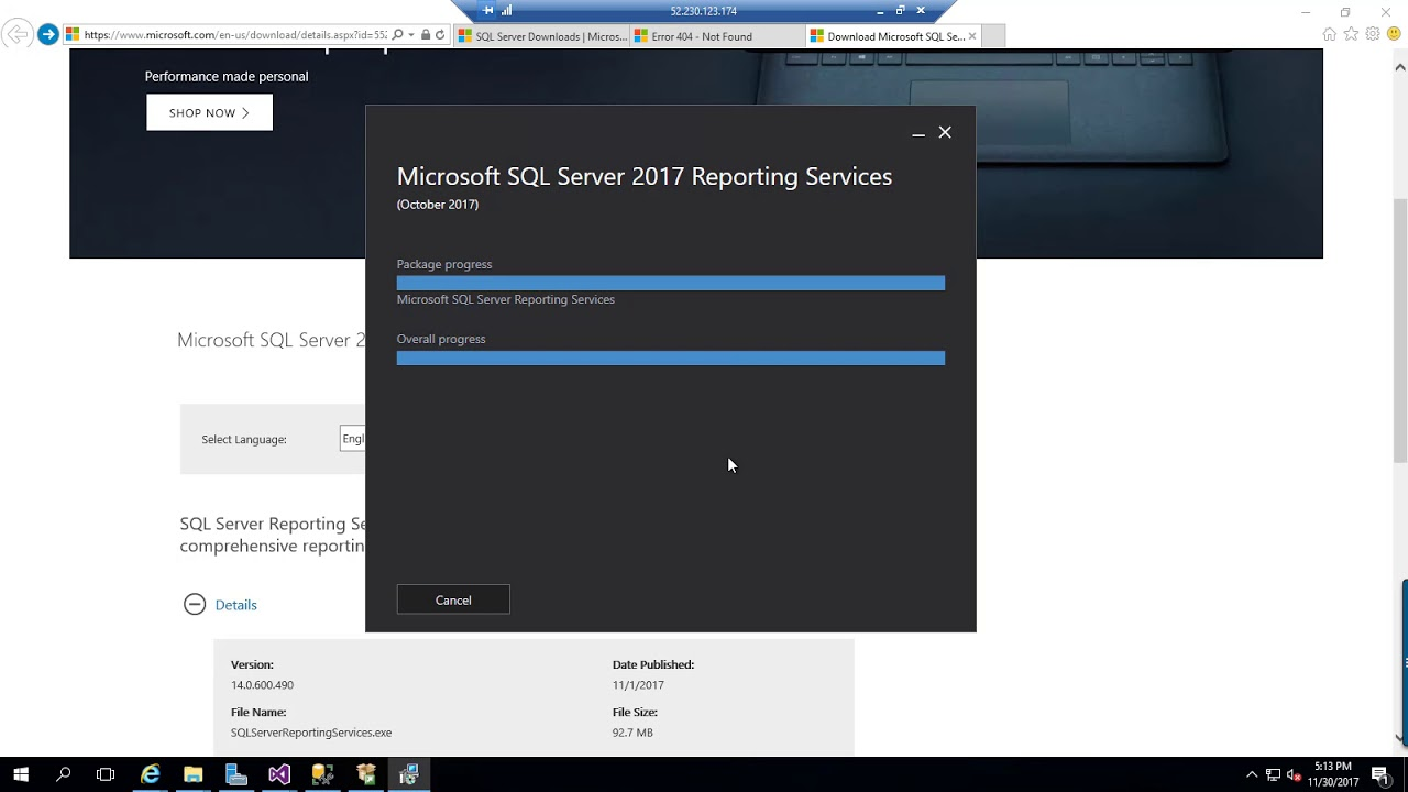 install sql server reporting services step by step