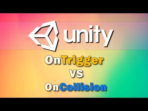 Unity3d - Difference OnTrigger vs OnCollision