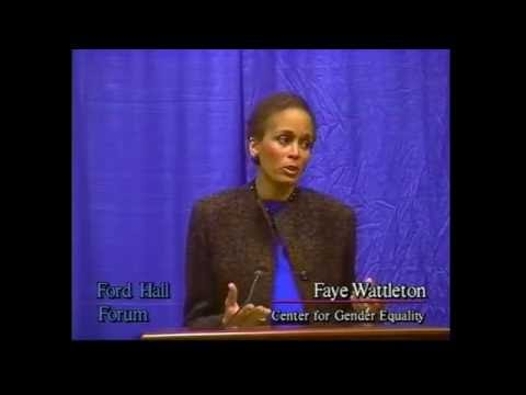 "Faye Wattleton, ""Working Women, Working Wives, Working Mothers, Working Lives"" (Ford Hall Forum)"