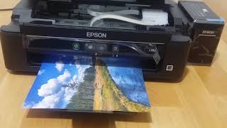 Test Impression Photo Epson L382 Bordelss printing طباعة بدون حدود