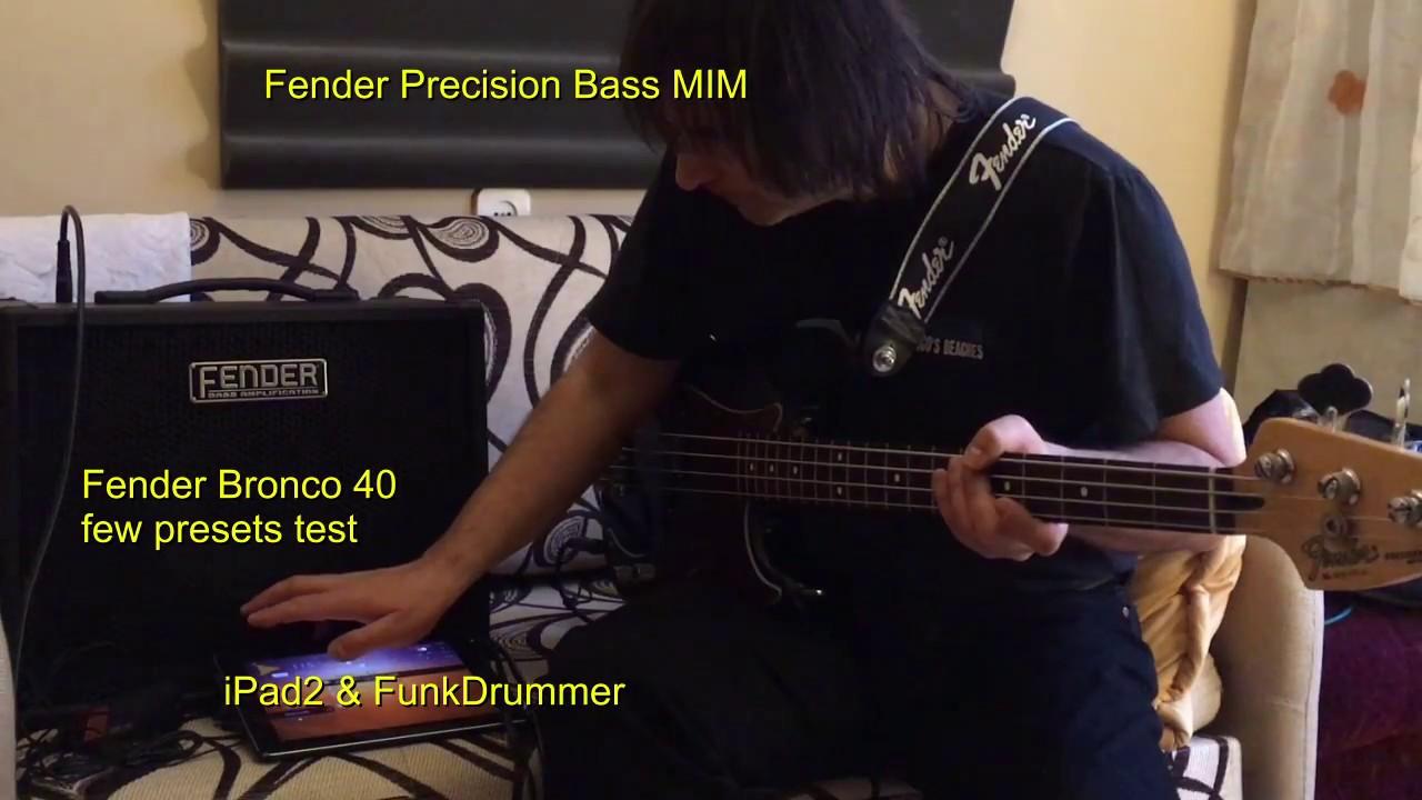 Fender bronco 40 presets