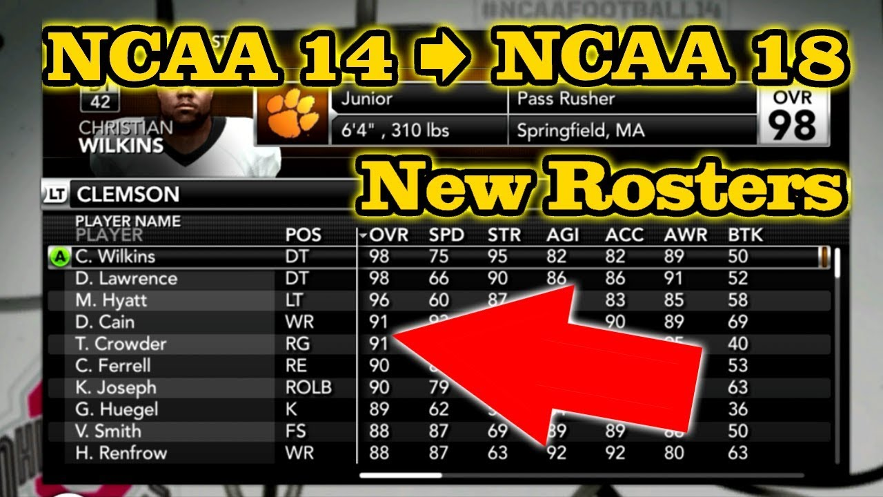 Ncaa Football 14 How To Update Rosters To 2017 2018 Season Xbox 360 Ps3